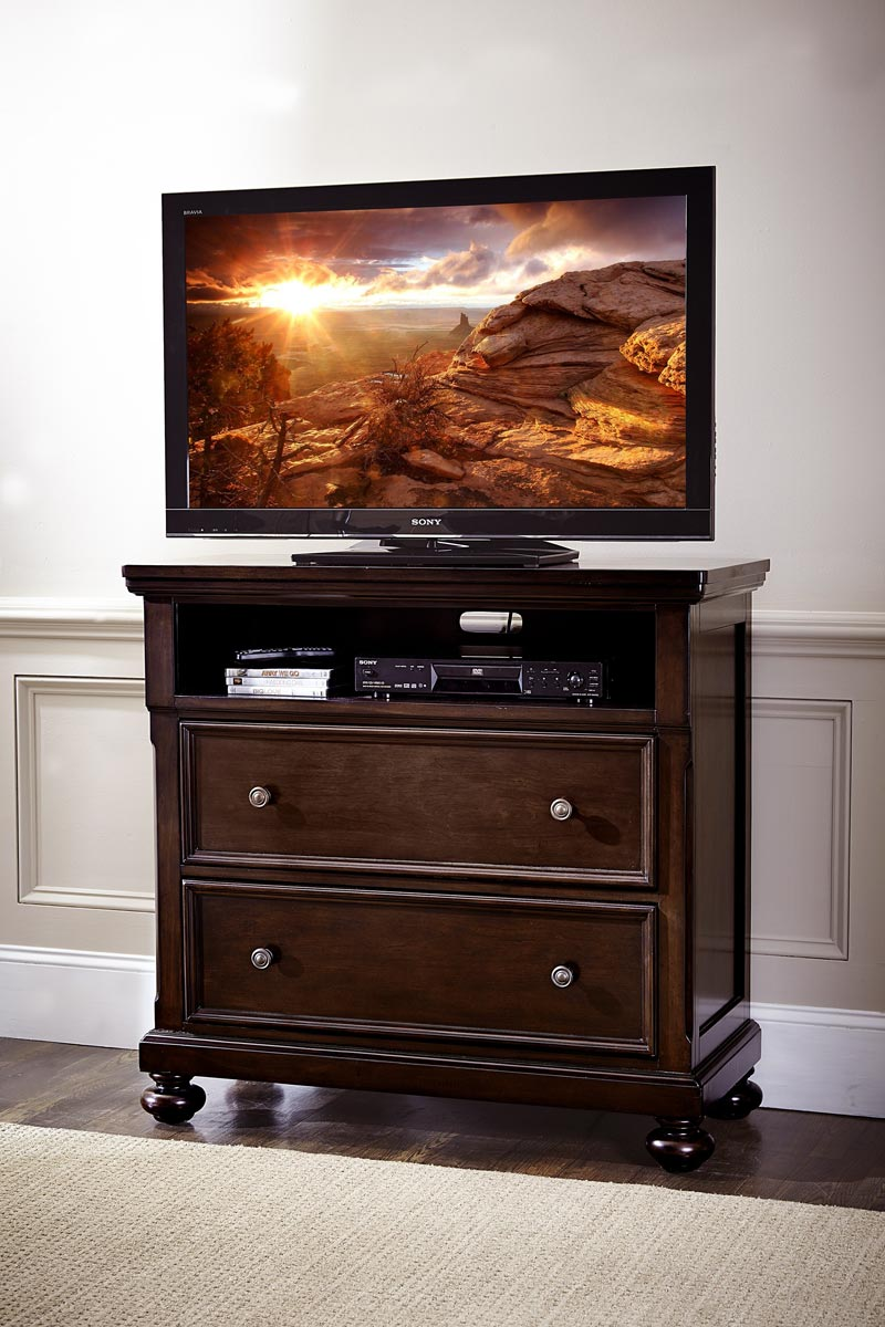 Homelegance Faust TV Chest - Dark Cherry