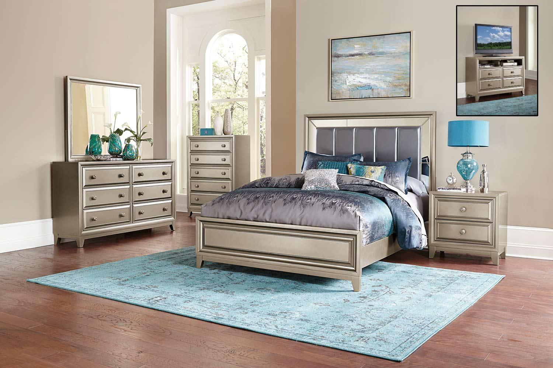 homelegance hedy bedroom set silver 1839 bedroom set at