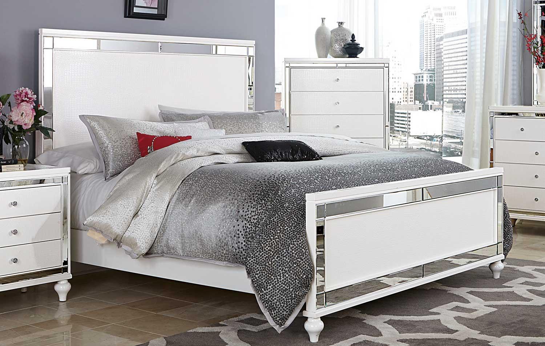 Homelegance Alonza Panel Bed - White