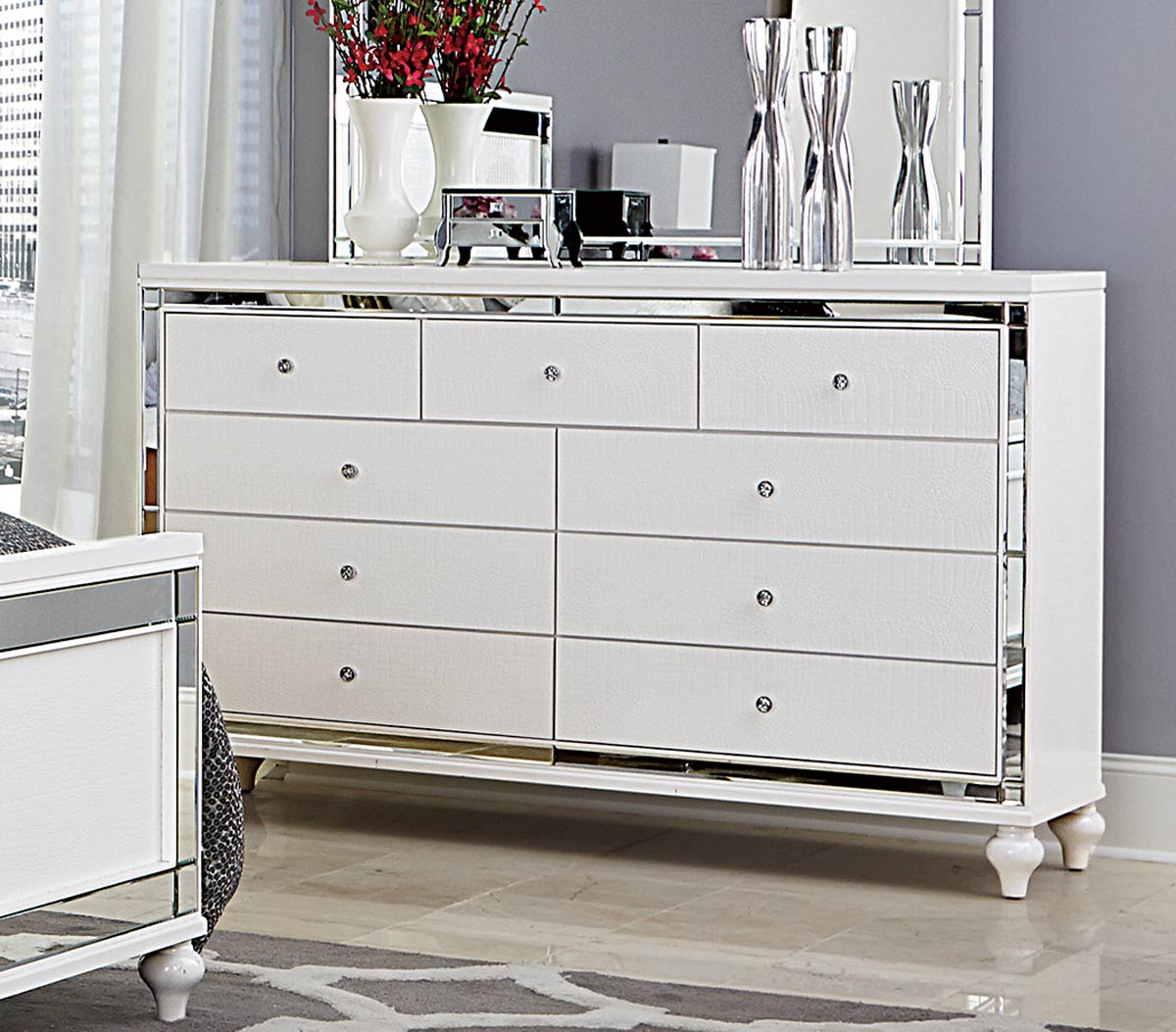 Homelegance Alonza Dresser - White