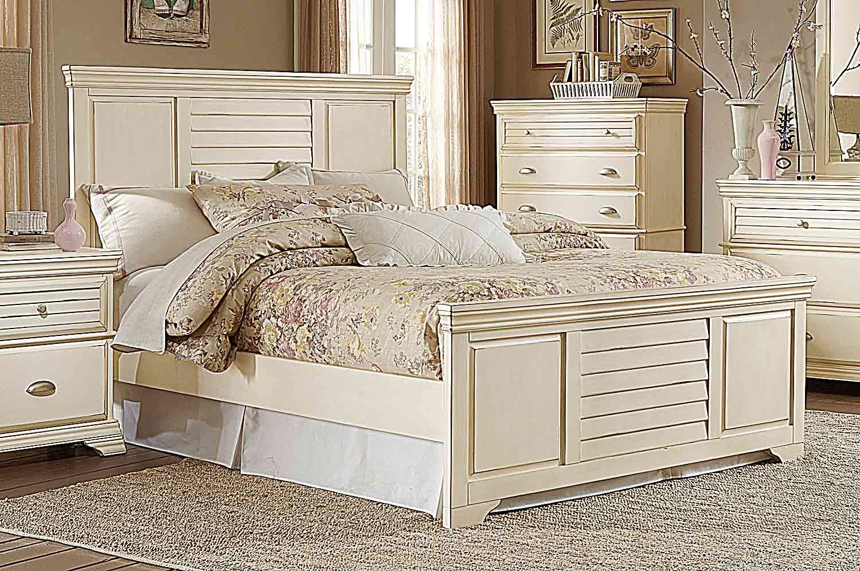 Homelegance Laurinda Bed - Antique White