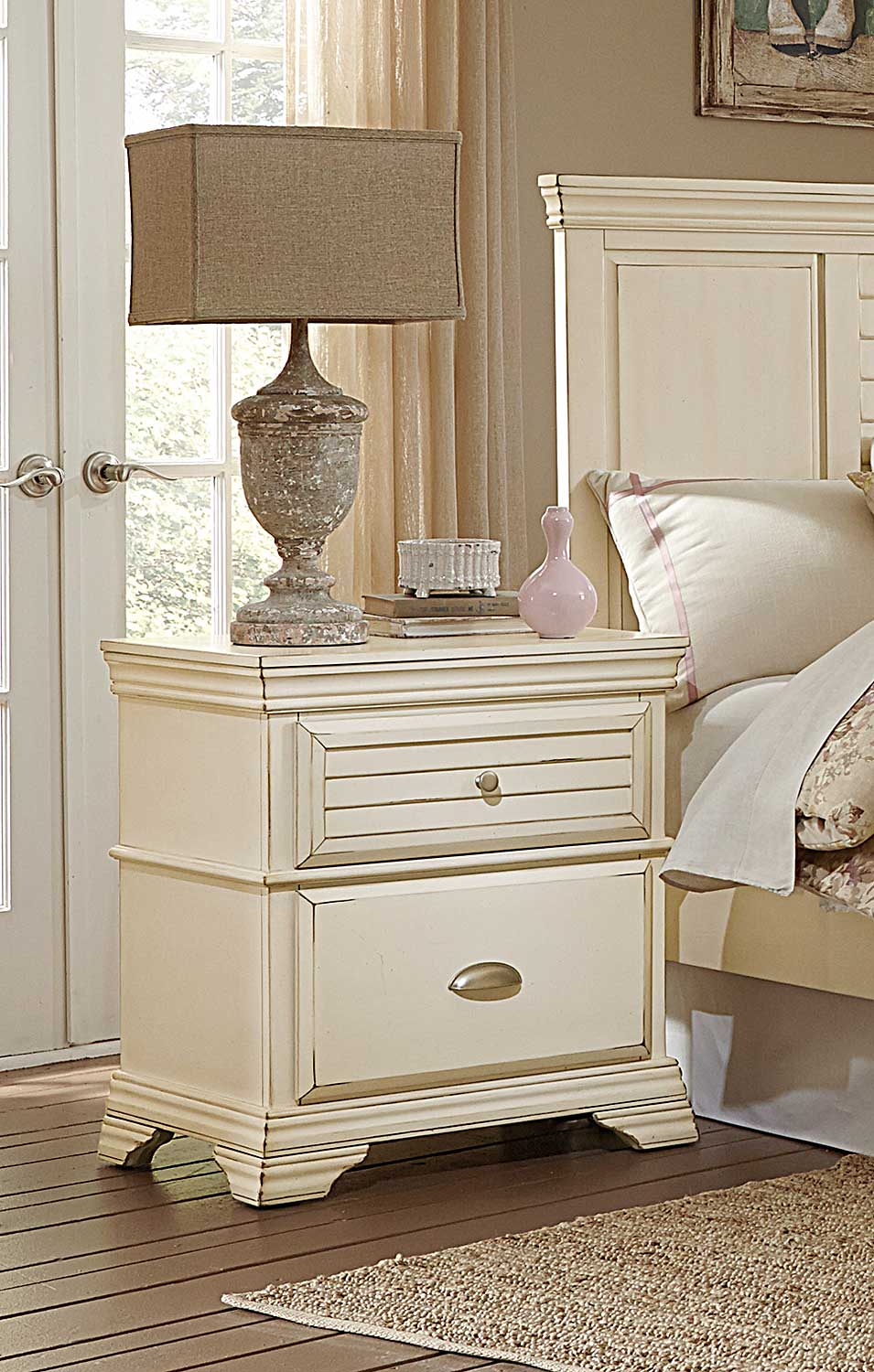 Homelegance Laurinda Night Stand - Antique White