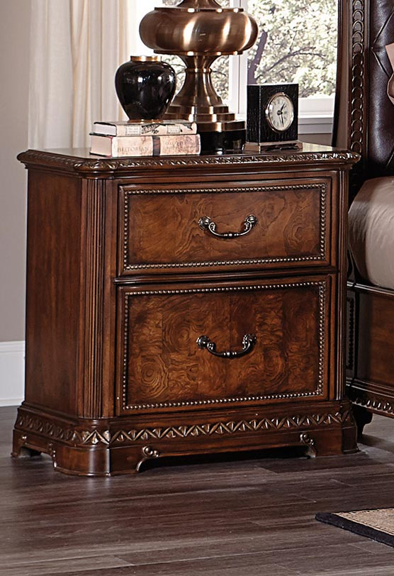 Homelegance Brompton Lane Night Stand with Hidden Drawer - Cherry