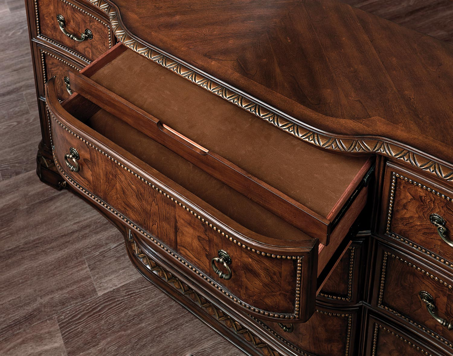 Homelegance Brompton Lane Dresser with Hidden Drawer - Cherry