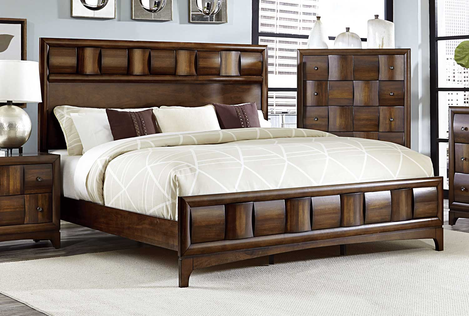 Homelegance Porter Bed - Warm Walnut