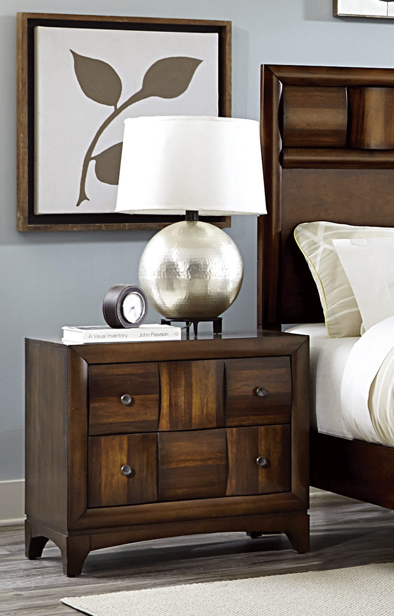 Homelegance Porter Night Stand - Warm Walnut