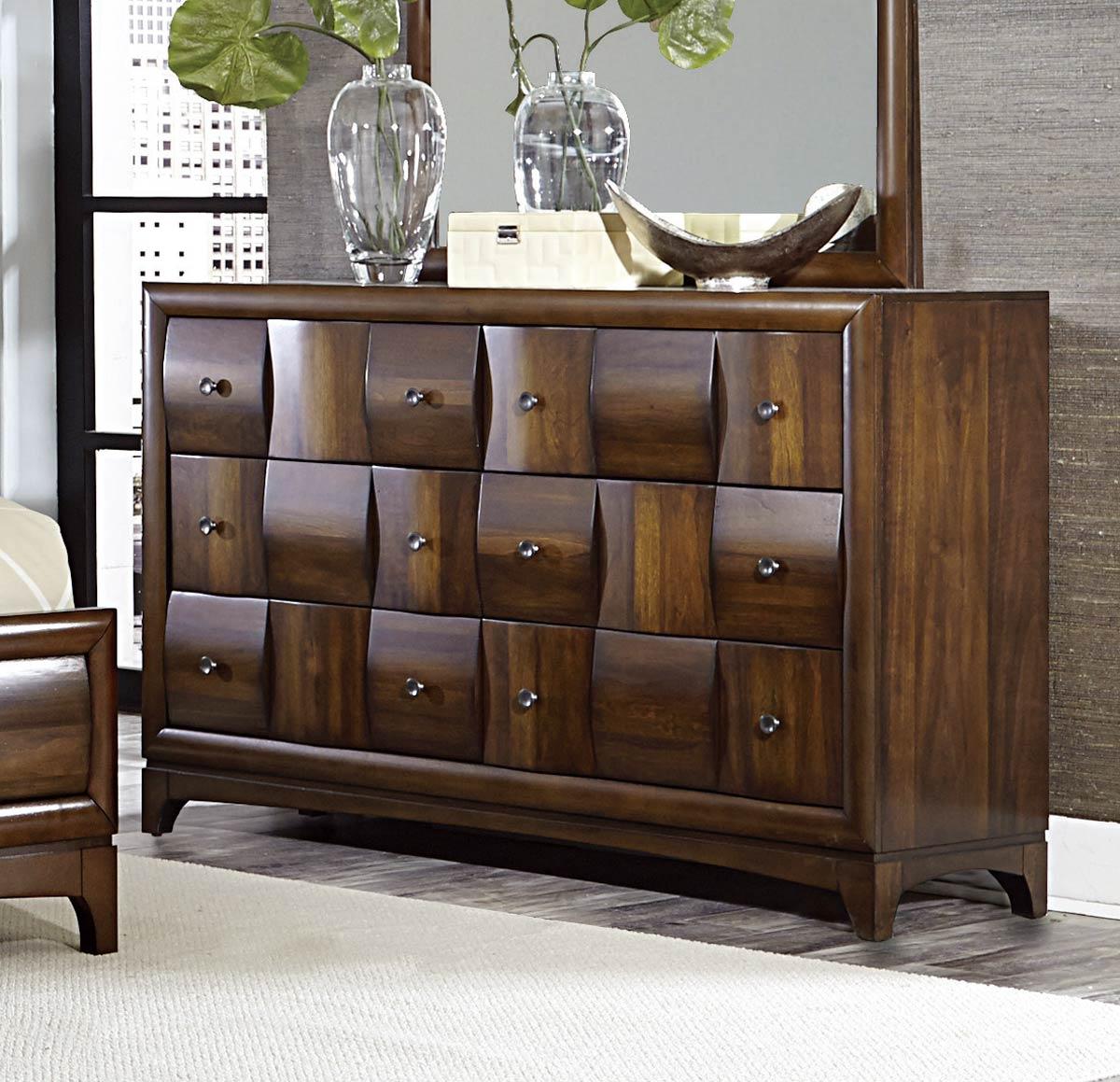 Homelegance Porter Dresser - Warm Walnut