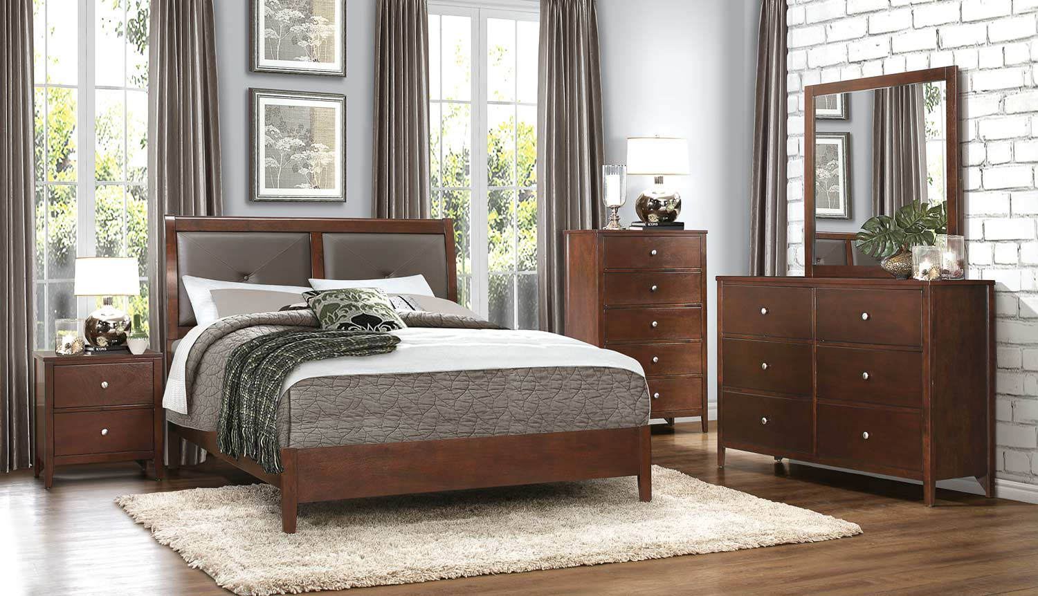 Homelegance Cullen Bedroom Set - Brown Cherry