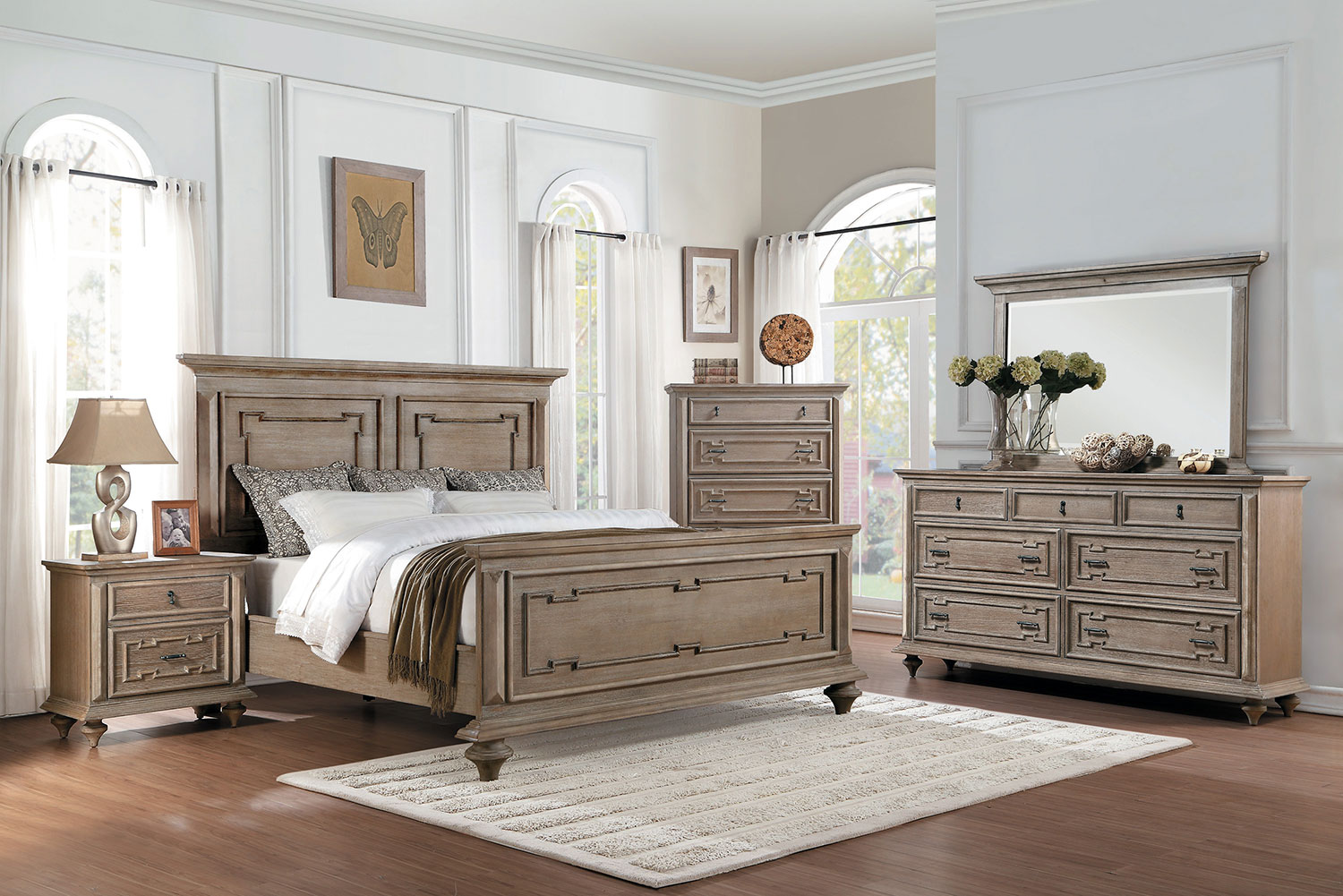 Homelegance Marceline Bedroom Set - Weathered