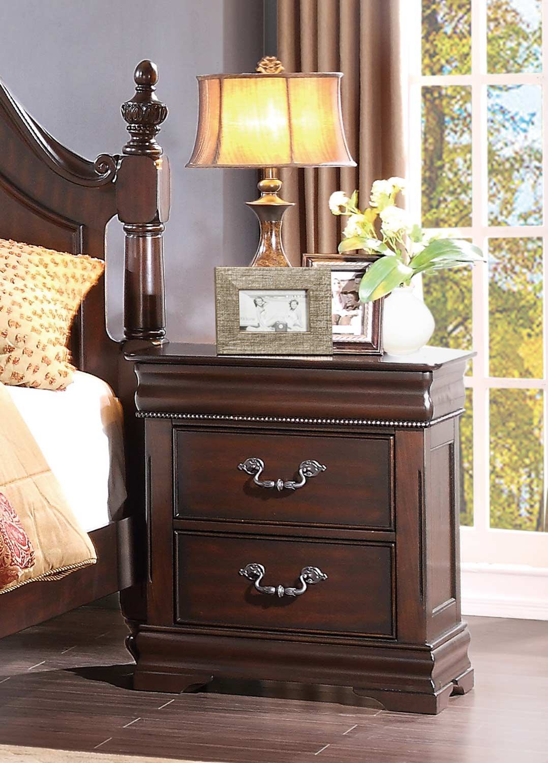 Homelegance Mont Belvieu Night Stand - Cherry