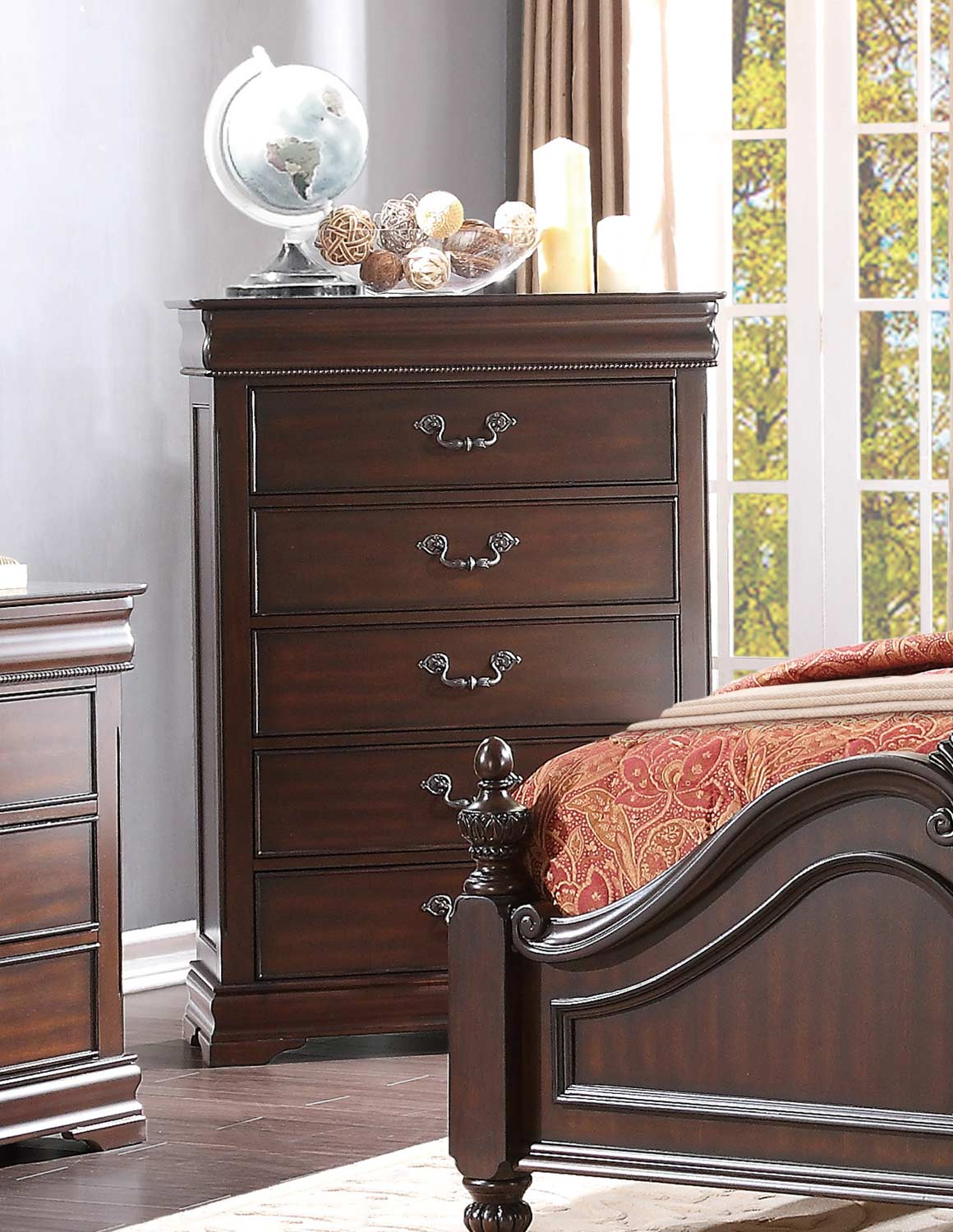 Homelegance Mont Belvieu Chest - Cherry
