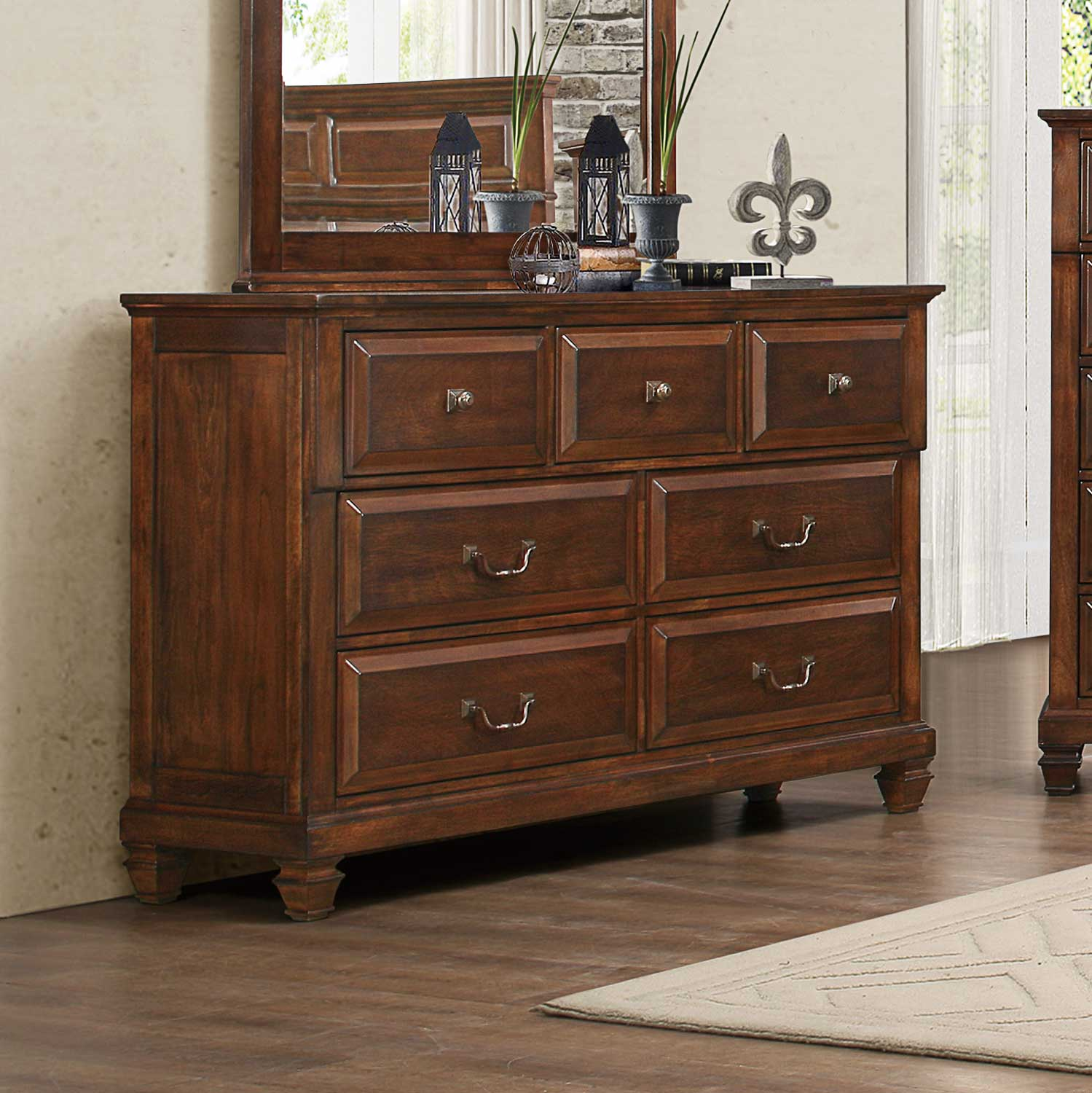 Homelegance Bardwell Dresser - Brown Cherry