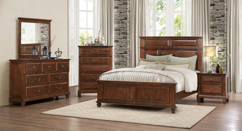 Homelegance Bardwell Bedroom Set - Brown Cherry