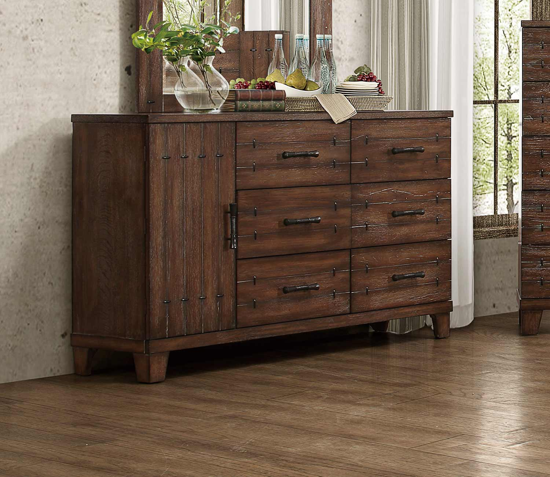 Homelegance Brazoria Dresser - Distressed Natural Wood