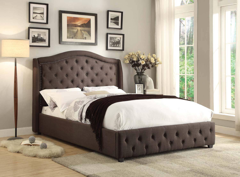 Homelegance Bryndle Upholstered Bed - Dark Grey