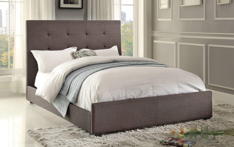 Homelegance Cadmus Upholstered Bed - Dark Grey