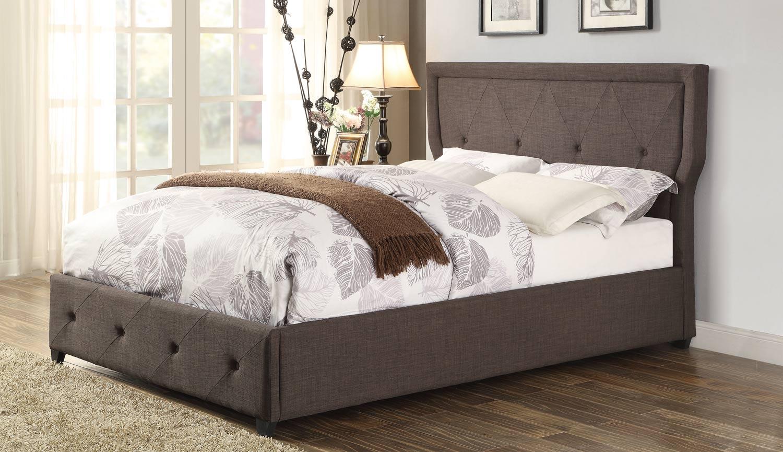Homelegance Thain Upholstered Bed - Dark Grey