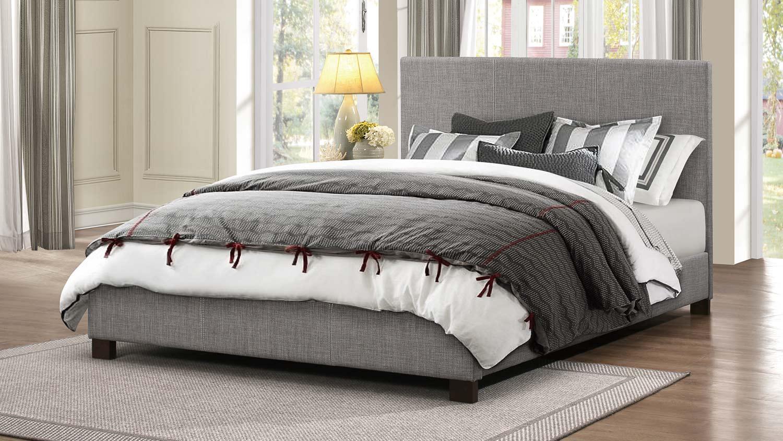 Homelegance Chasin Upholstered Platform Bed - Grey