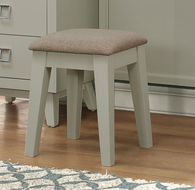 Homelegance Valpico Vanity Stool - Cool Grey/Olive Undertone