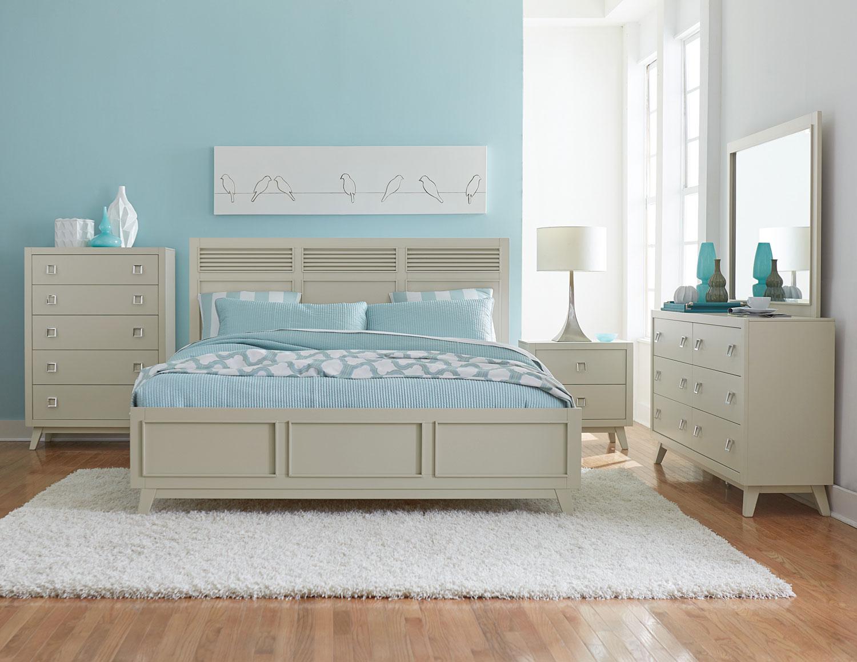 Homelegance Valpico Panel Bedroom Set - Cool Grey/Olive Undertone