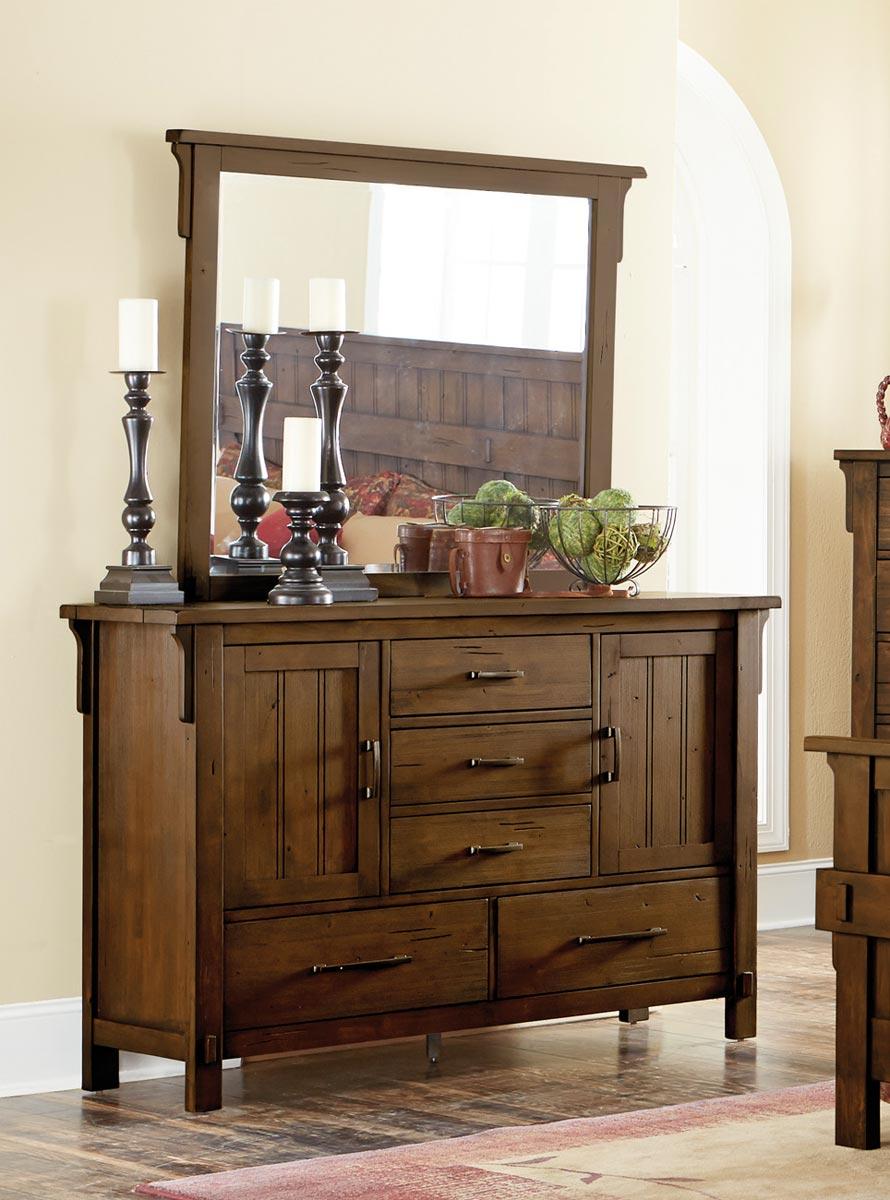 Homelegance Terrace Dresser - Rustic Burnish Oak