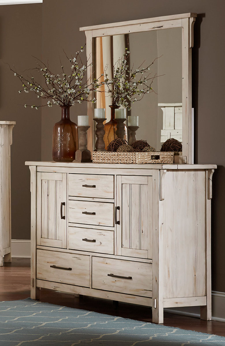 Homelegance Terrace Dresser with Doors - Antique White