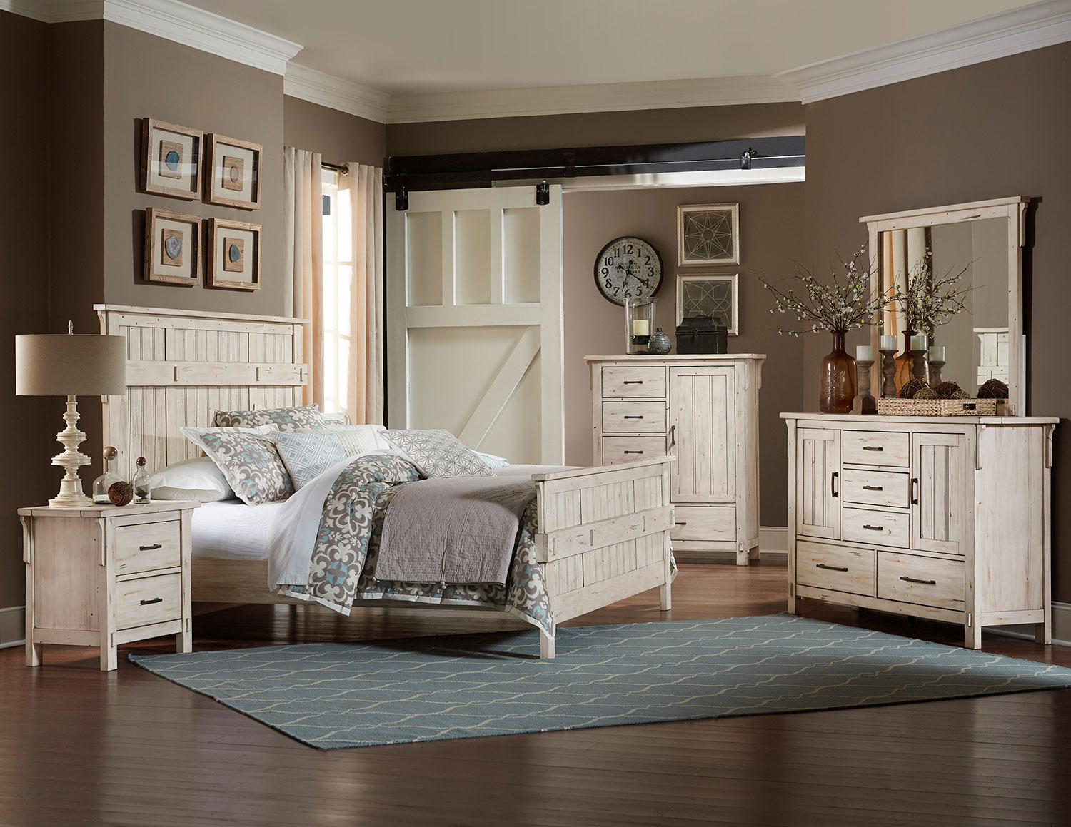 Homelegance Terrace Bedroom Set - Antique White