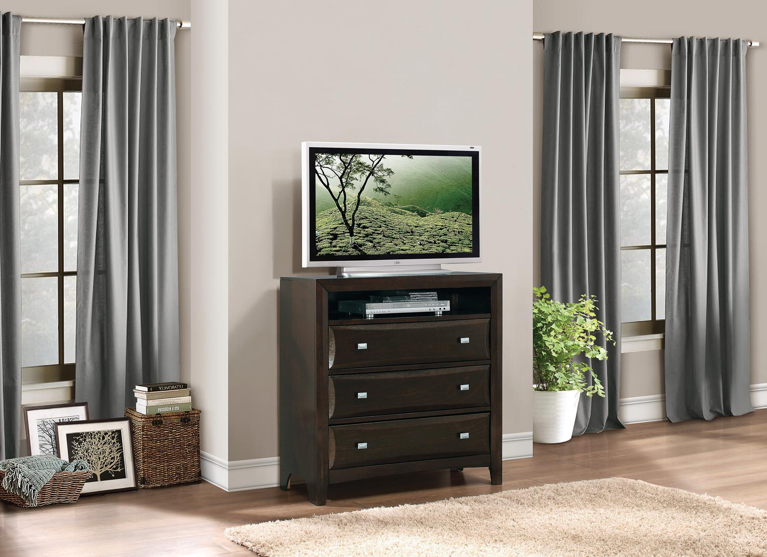 Homelegance Summerlin TV Chest - Espresso