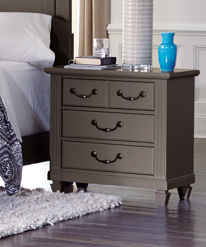 Homelegance Granbury Night Stand - Grey Rub