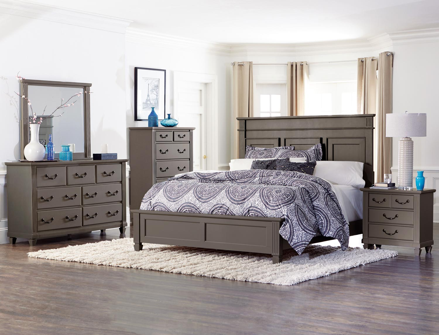Homelegance Granbury Panel Bedroom Set - Grey Rub