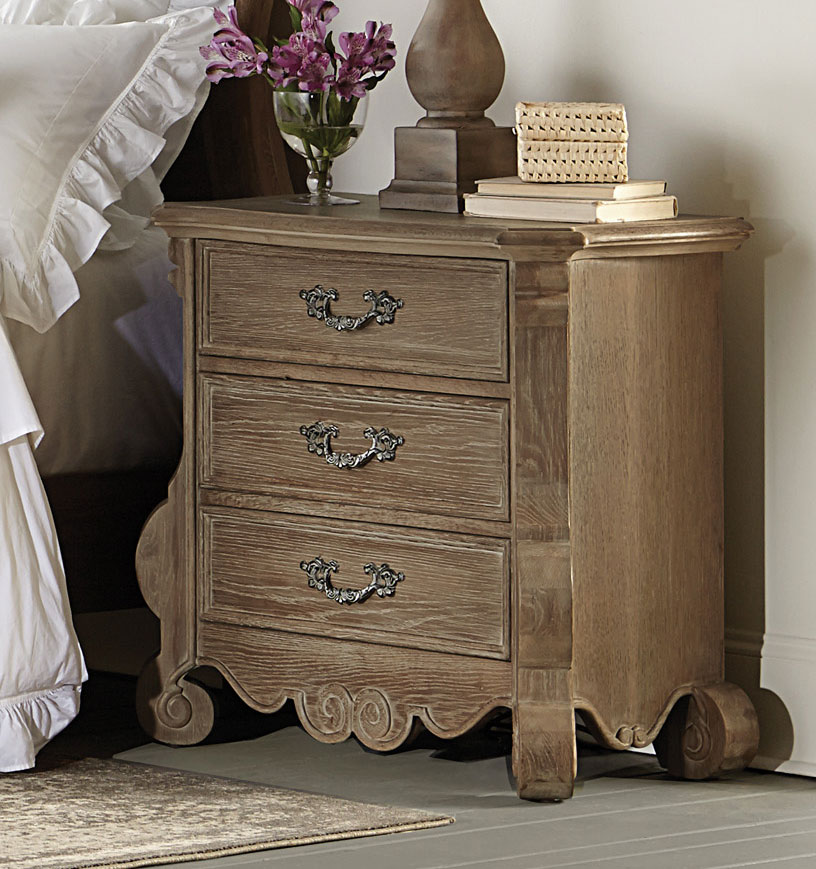 Homelegance Chrysanthe Night Stand - Oak