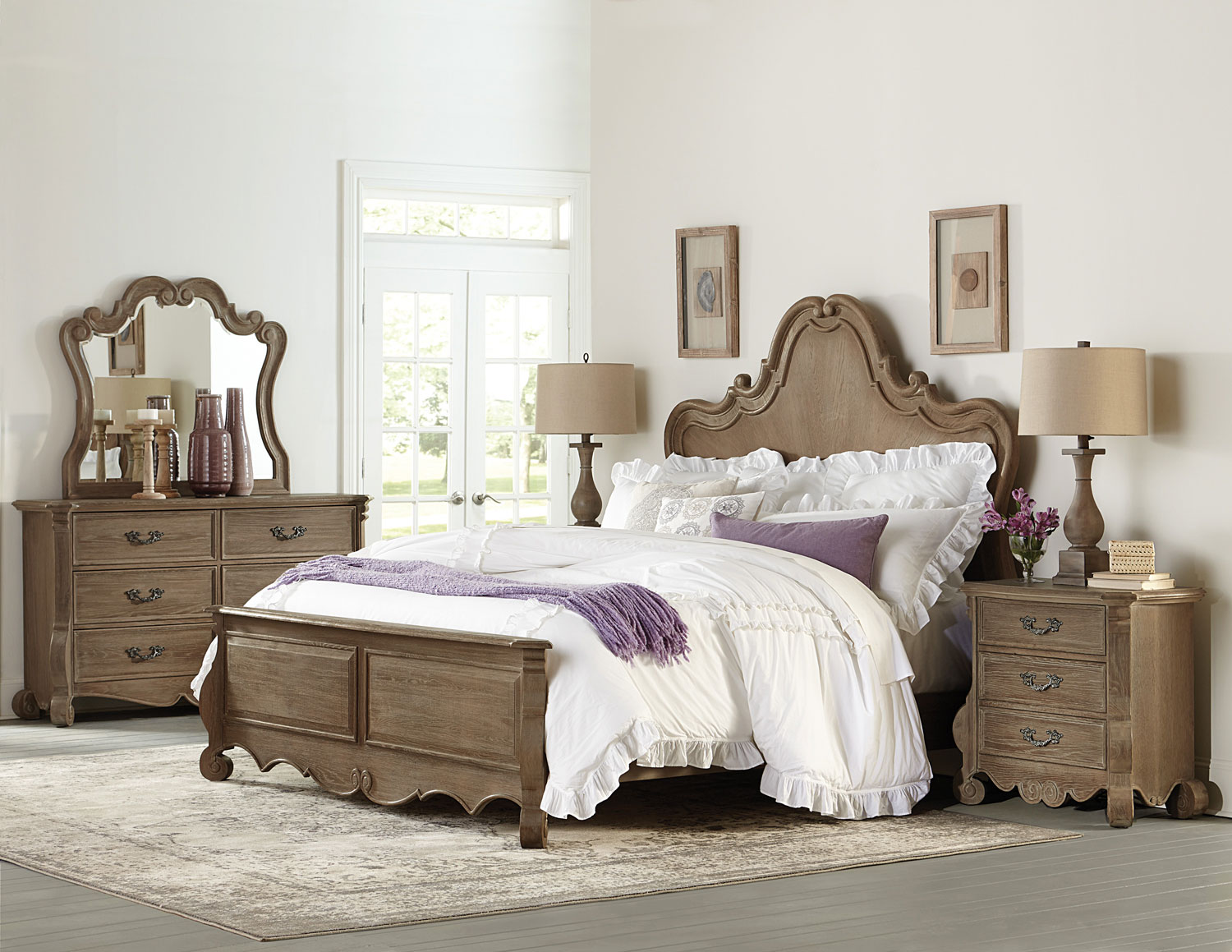 Homelegance Chrysanthe Bedroom Set - Oak
