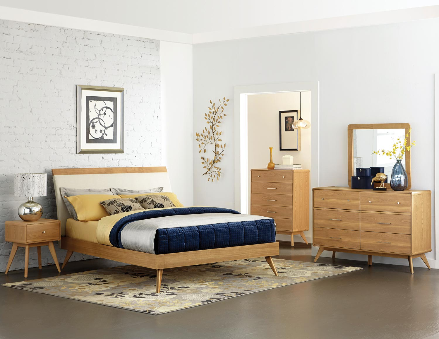 Homelegance Anika Platform Bedroom Set - Light Ash