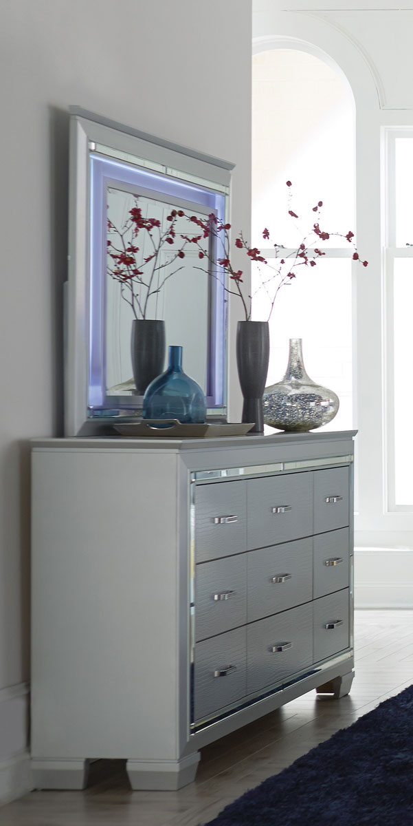 Homelegance Allura Dresser - Silver