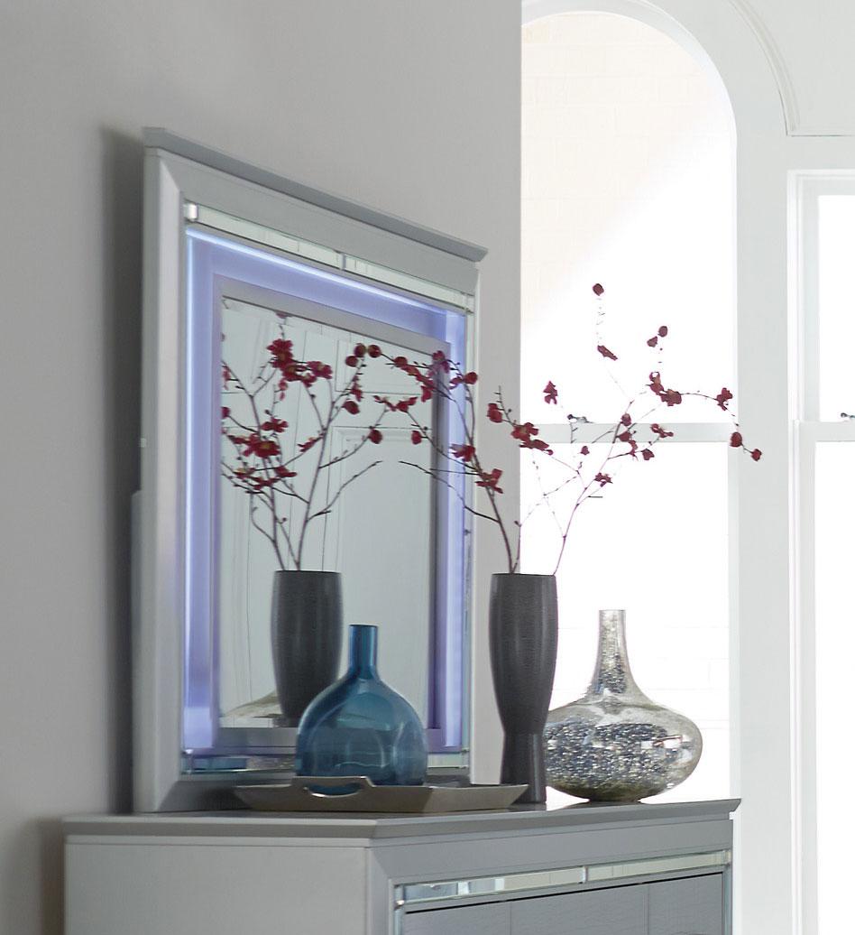 Homelegance Allura Mirror with LED Lighting - Silver
