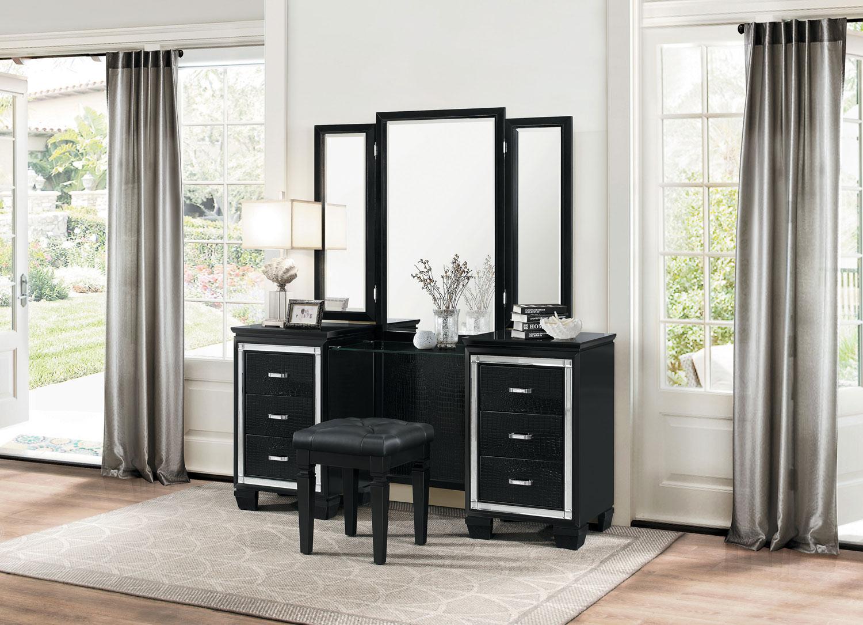 Homelegance Allura Vanity with Mirror - Black