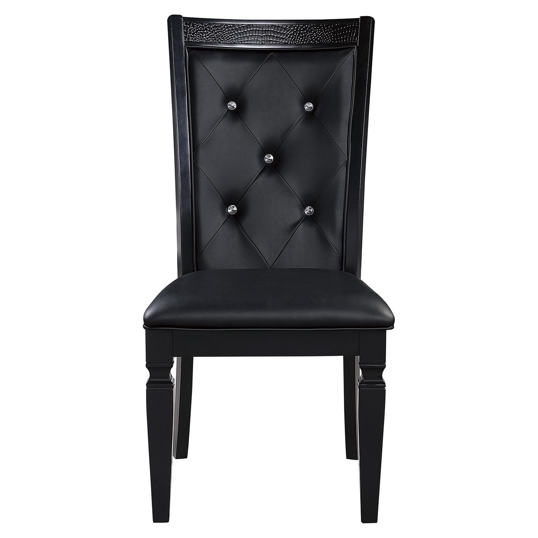 Homelegance Allura Side Chair - Black Metallic