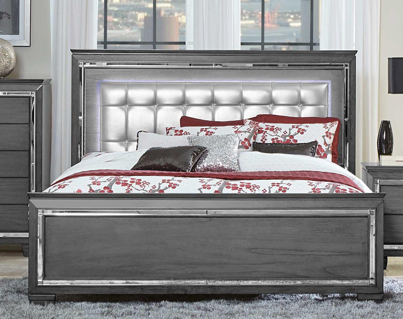 Homelegance Allura Bed with LED Lighting - Gray