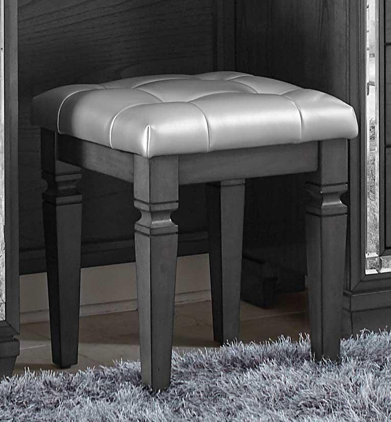 Homelegance Allura Vanity Stool - Gray