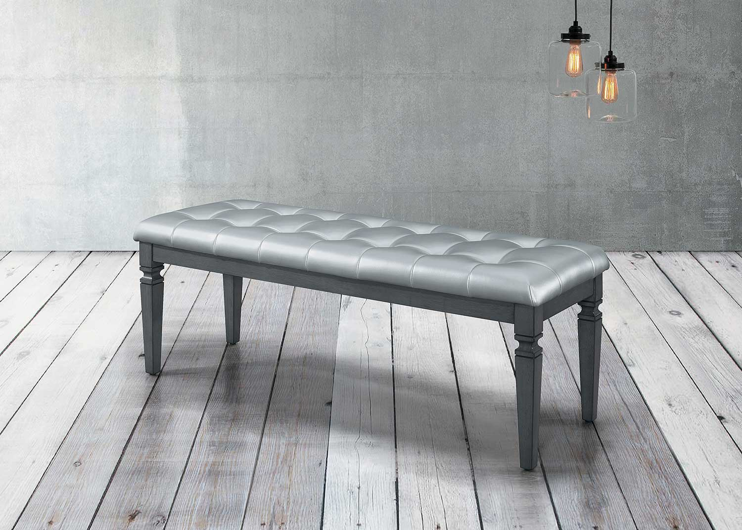 Homelegance Allura Bed Bench - Gray