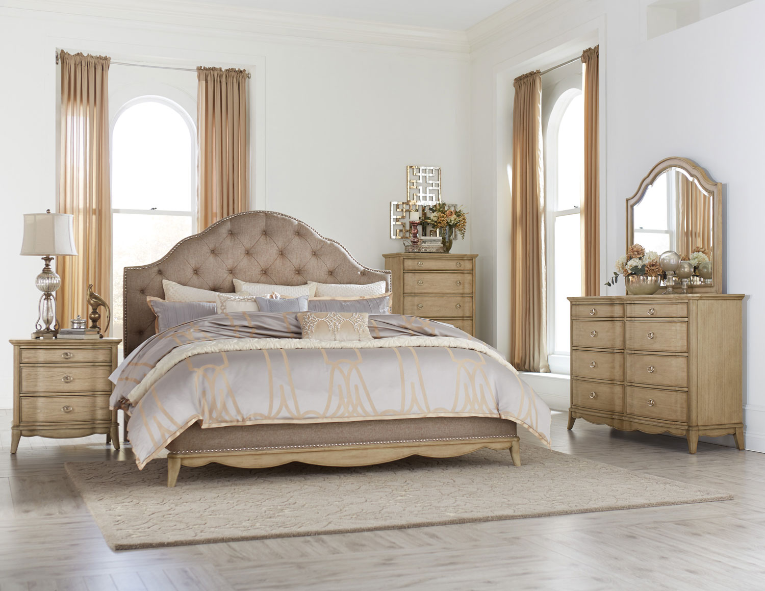 homelegance ashden upholstered bedroom set driftwood