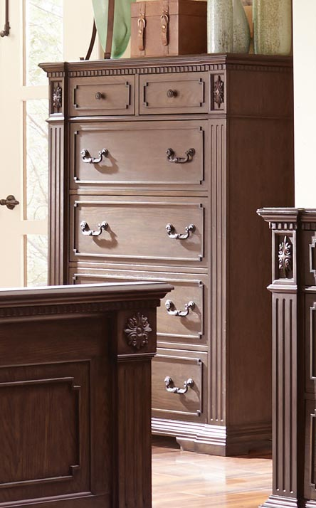 Homelegance Dothan Park Chest - Rich Brown Cherry