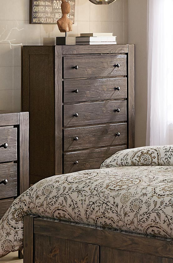 Homelegance Farrin Chest - Dark Rustic Pine