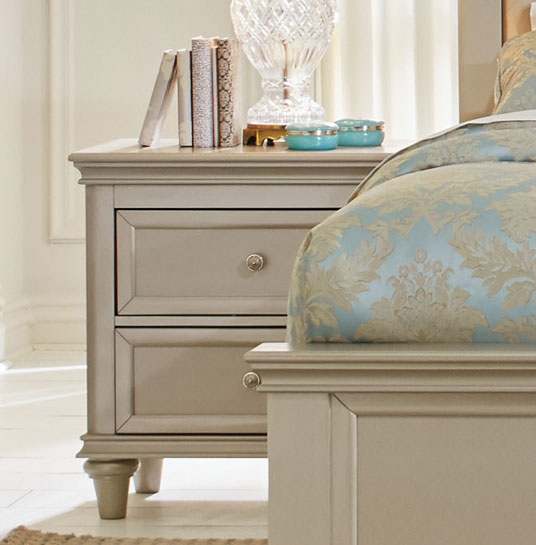 Homelegance Celandine Night Stand - Silver