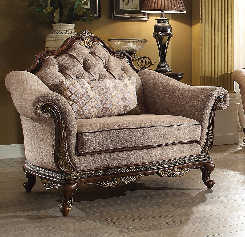 Homelegance Bonaventure Park Chair - Chenille - Brown