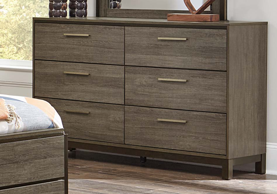 Homelegance Vestavia Dresser - Grey/Dark Brown