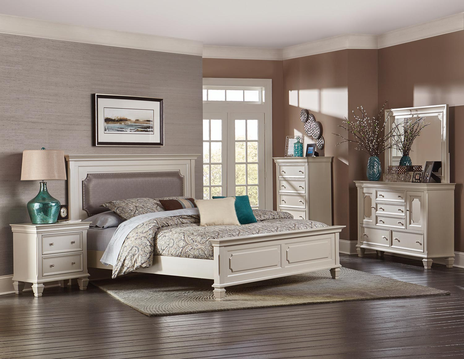 Homelegance Odette Upholstered Panel Bedroom Set - Champagne