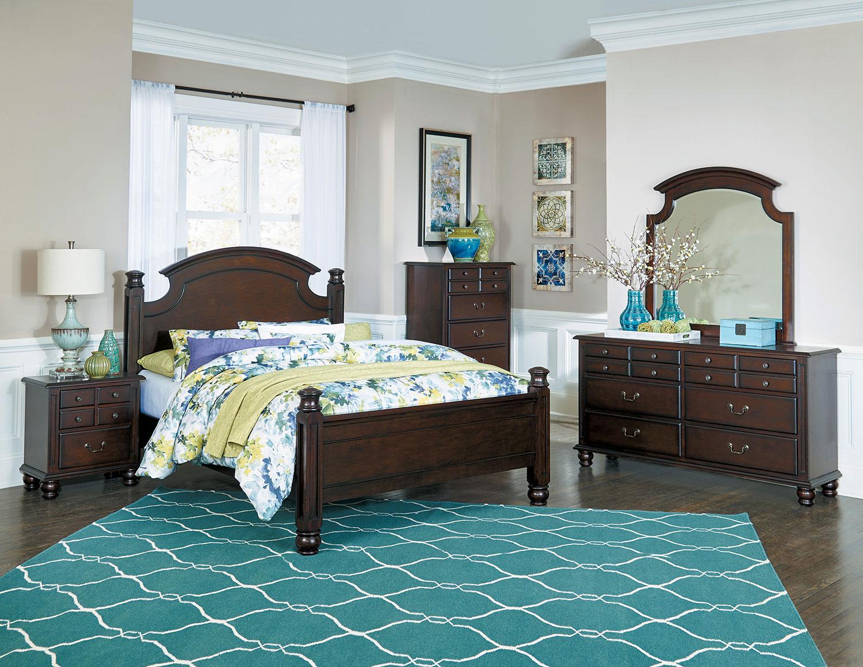 homelegance frederica bedroom set  burnished cherry 1949