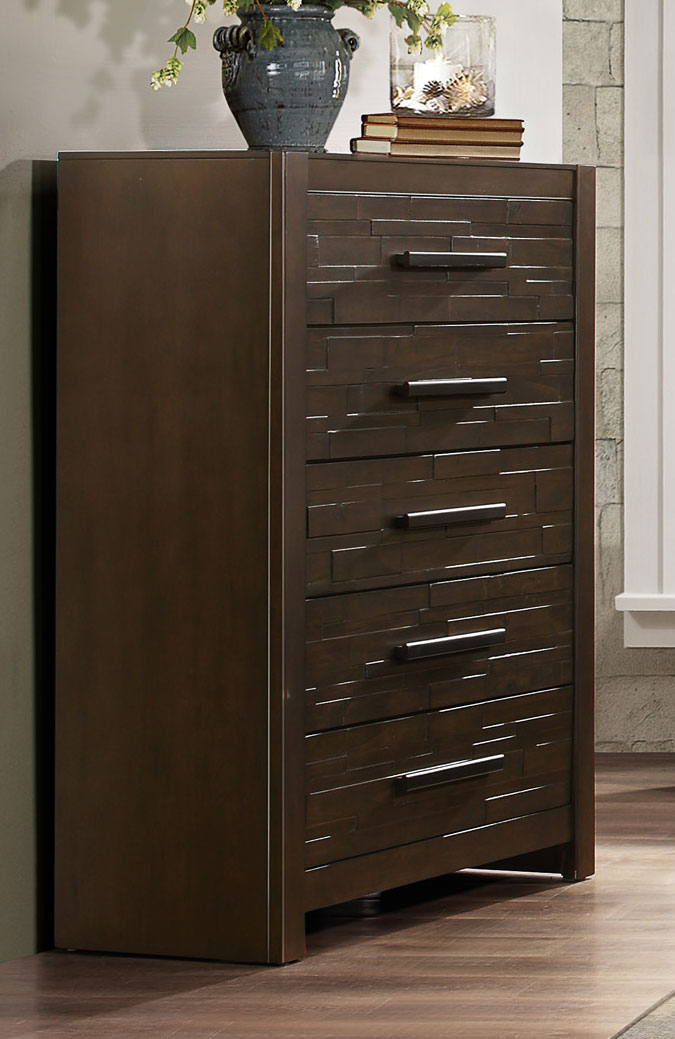 Homelegance Bowers Chest - Rustic Java Brown