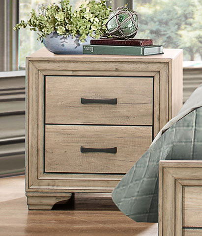Homelegance Lonan Night Stand - Weathered